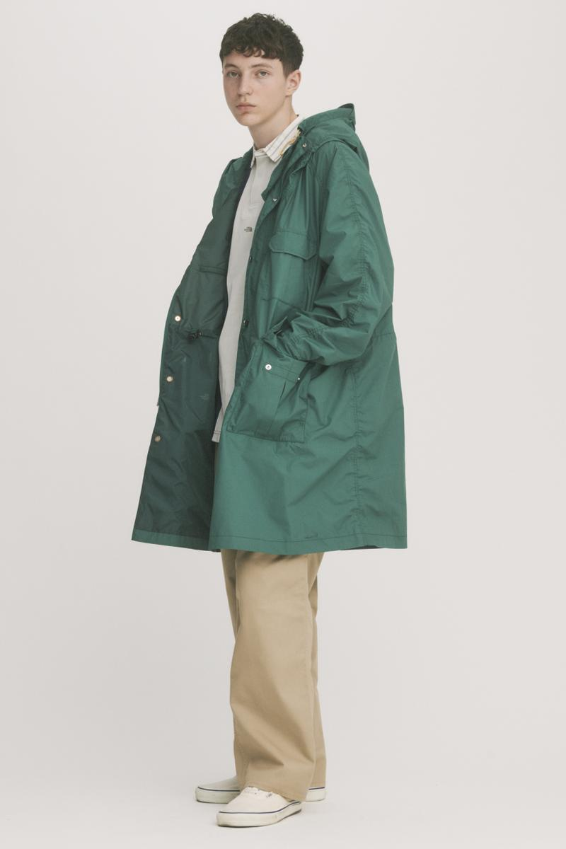 THE NORTH FACE PURPLE LABEL Spring Summer 2019 Lookbook Jacket Green Pants Tan