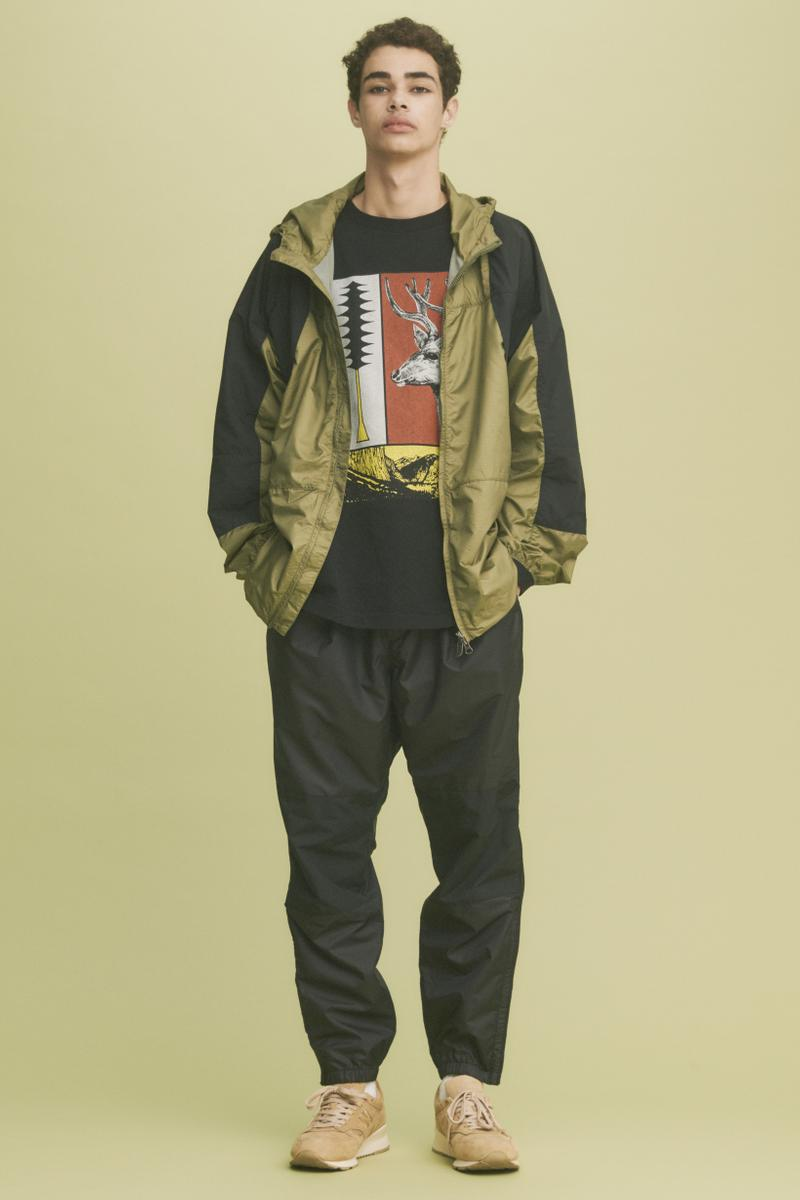 THE NORTH FACE PURPLE LABEL Spring Summer 2019 Lookbook Jacket Green Pants Black