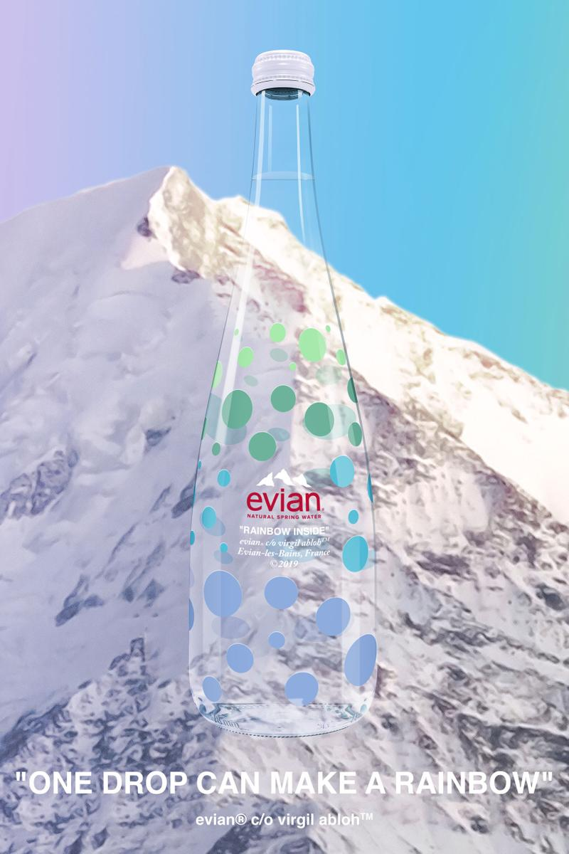 Evian Virgil Abloh Water Bottle