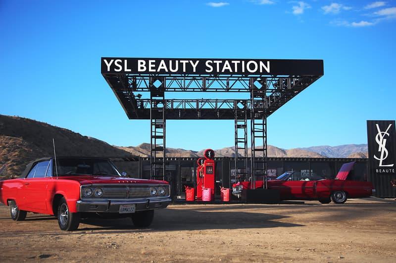 YSL Beauty Coachella Arts Music Festival 2019 Gas Station Pop-Up Shop Store Makeup Cosmetics Car