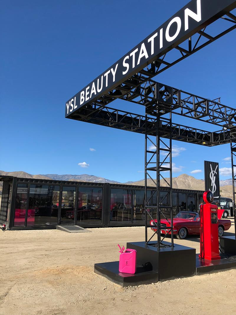 YSL Beauty Coachella Arts Music Festival 2019 Gas Station Pop-Up Shop Store Makeup Cosmetics