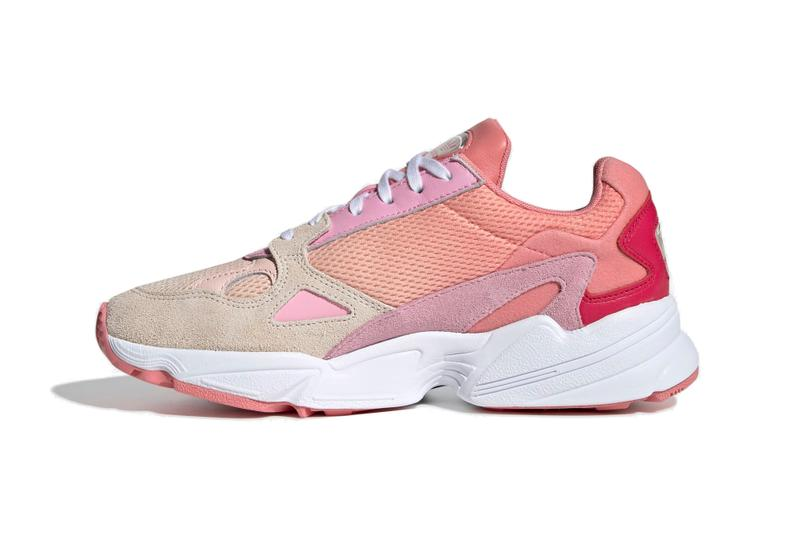 adidas Originals Falcon Coral/True Pink Release White Sneaker Shoe White Sole Summer Release