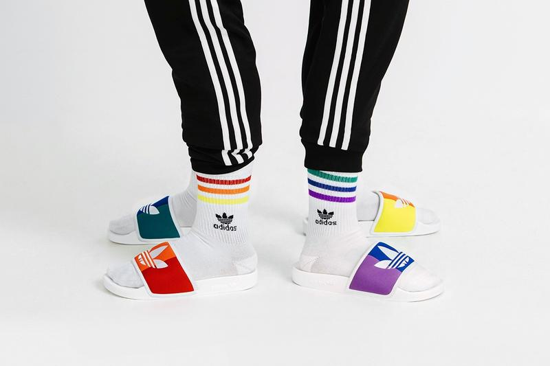 adidas Originals Love Unites Pride Month Pack Adilette Slides Red Green Purple Yellow