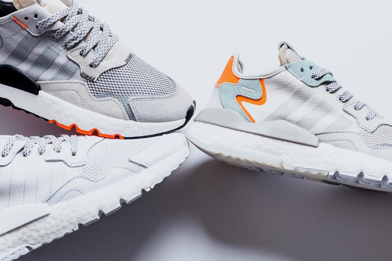 adidas Originals Nite Jogger Spring 2019 Collection Flat White Crystal Grey Orange Raw