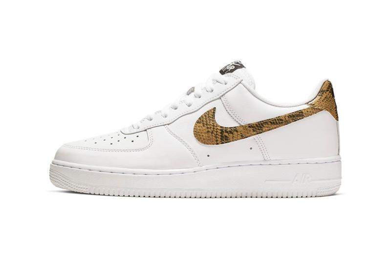 Nike Air Force 1 96 Snake Python Print Swoosh Sneakers Trainers