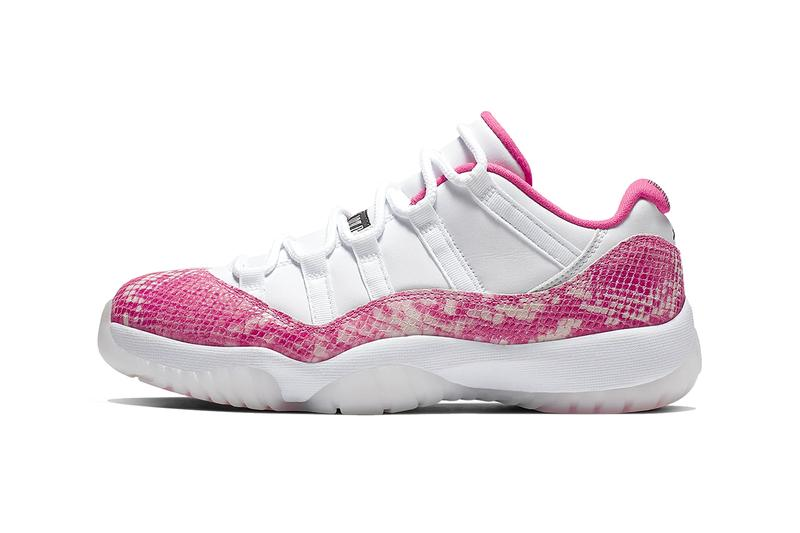 Air Jordan 11 Retro Low xi white pink snakeskin sneaker women
