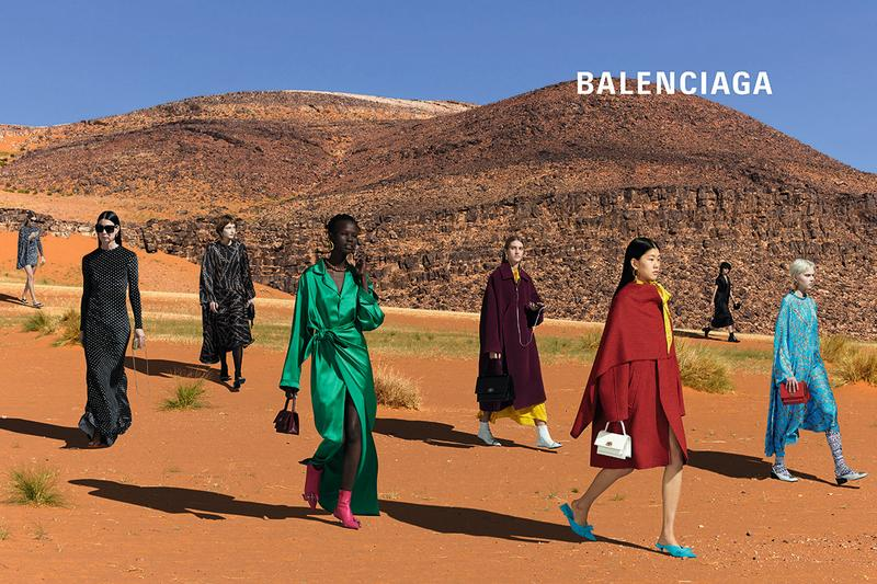 Balenciaga Fall 2019 Desert Campaign Editorial Jean Pierre Attal Fashion Spread Demna Gvasalia Collection