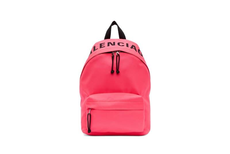 Balenciaga Small Wheel Backpack Pink Green