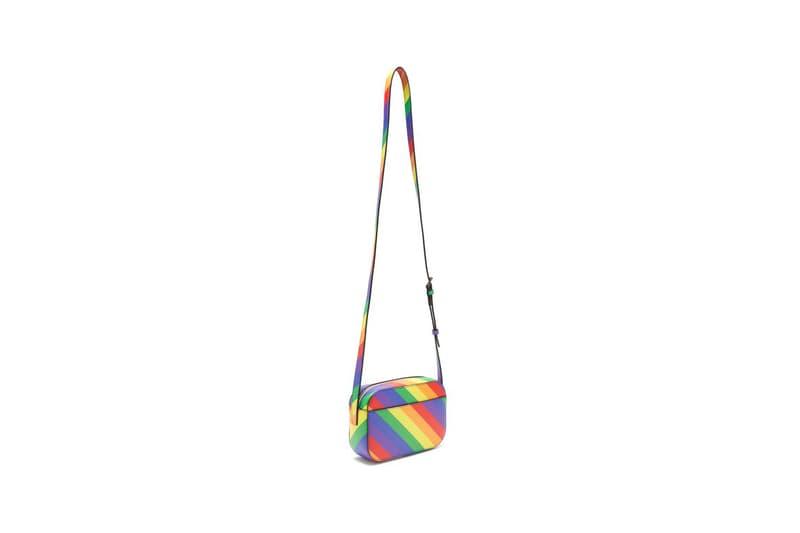 Balenciaga Ville XS Rainbow Stripe Bag Red Yellow Green