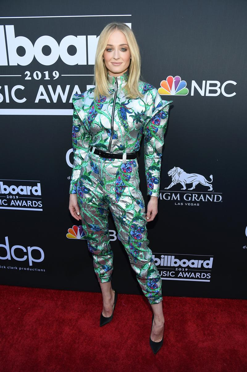 billboard music awards 2019 red carpet sophie turner game of thrones actress