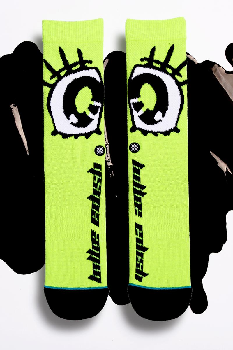 Billie Eilish x Stance Sock Anime Collection Green Black Eyes