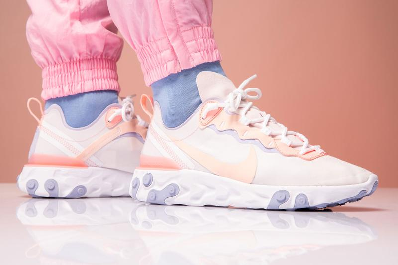 Nike React Element 55 Pale Pink Washed Coral