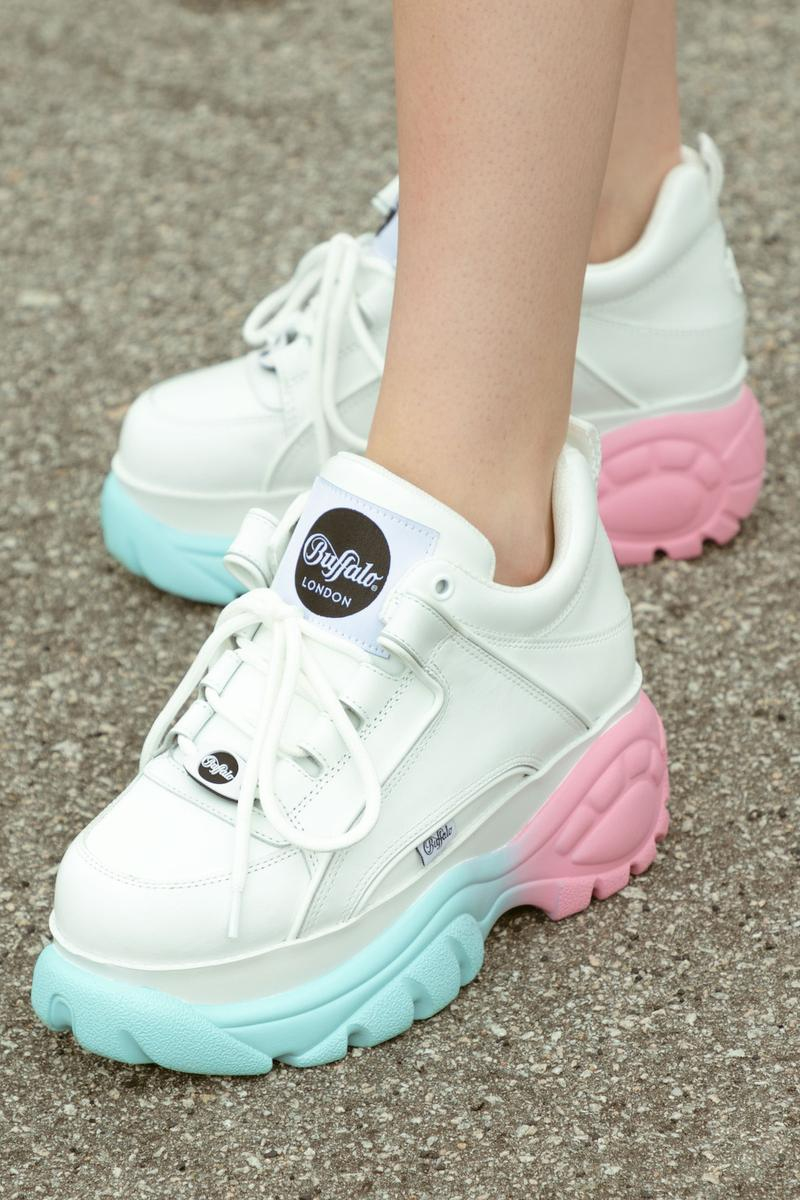 Buffalo London Pastel Gradient Sneaker HBX Exclusive Release Shoe Platform Pink Blue