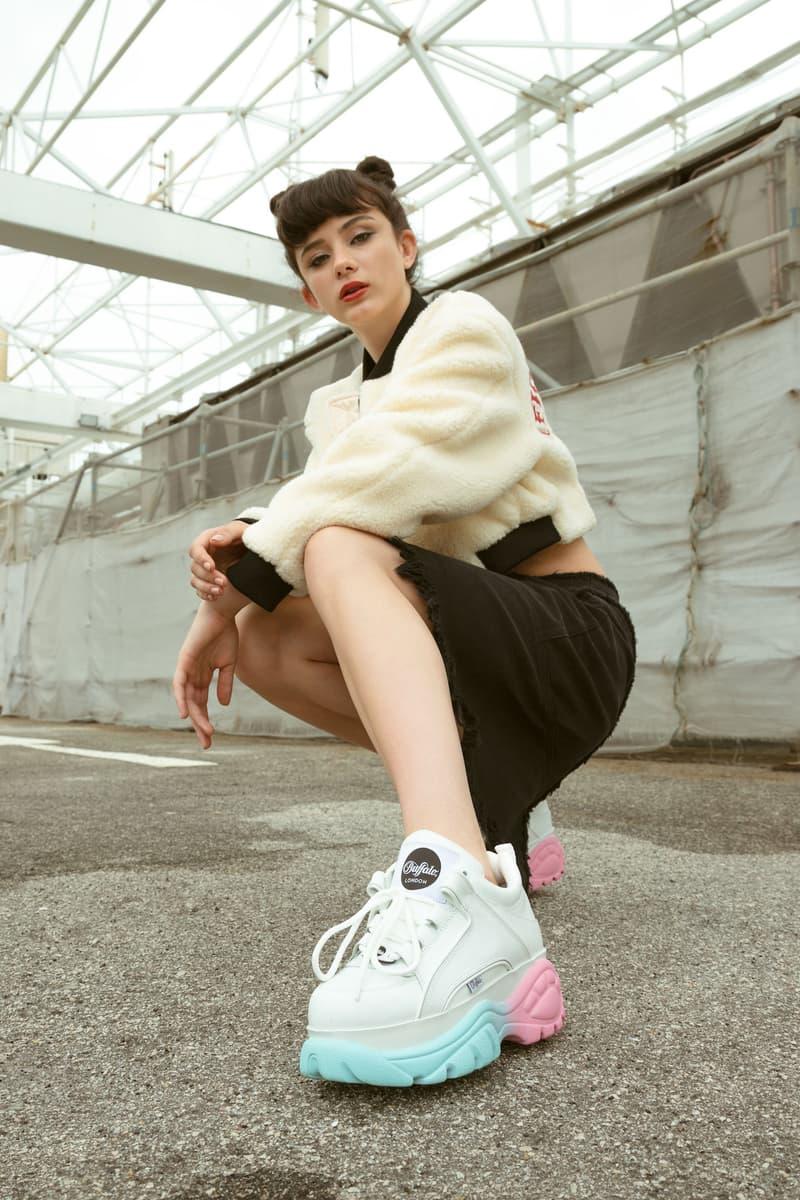 Buffalo London Pastel Gradient Sneaker HBX Exclusive Release Shoe Platform Pink Blue
