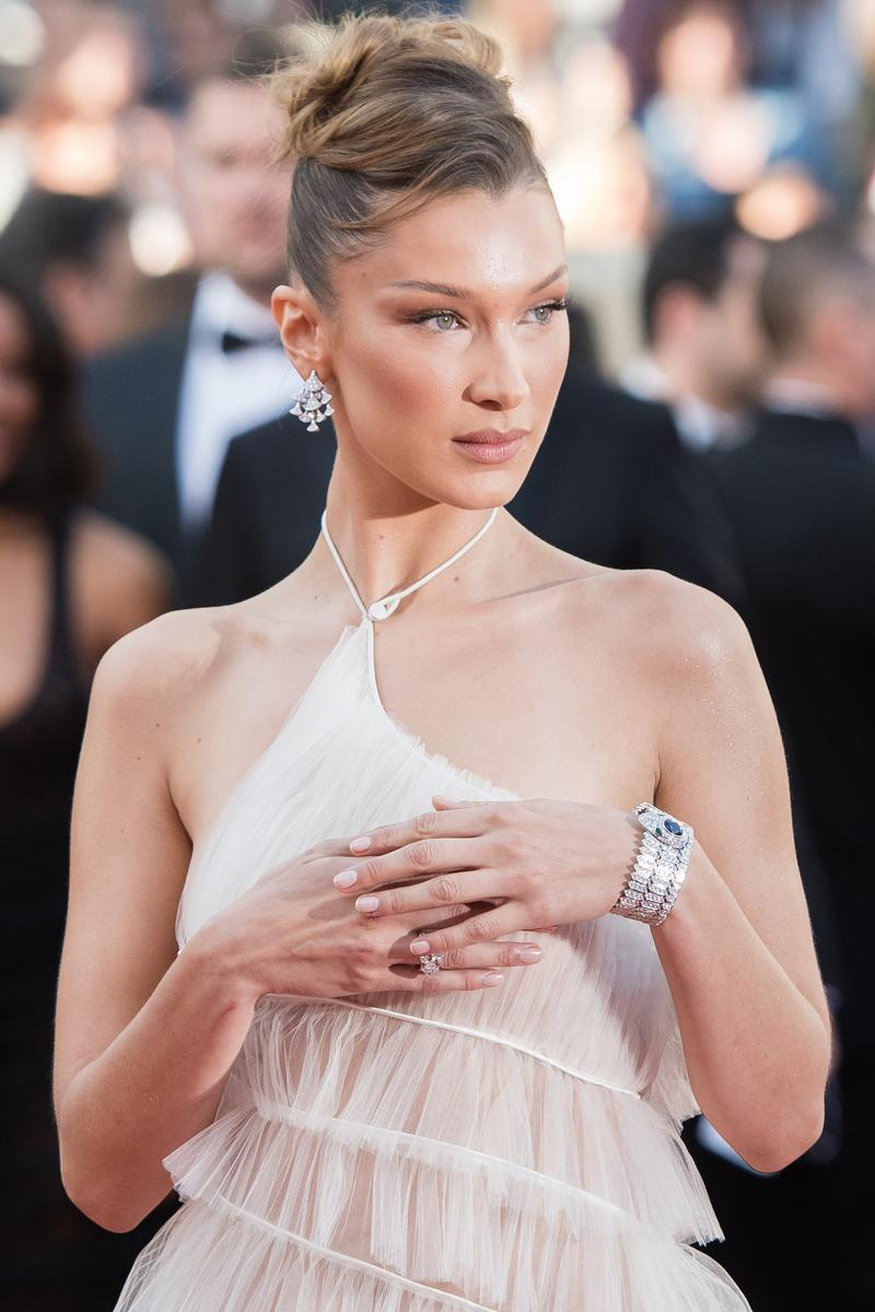 Cannes Film Festival 2019 Bella Hadid Dress Cream