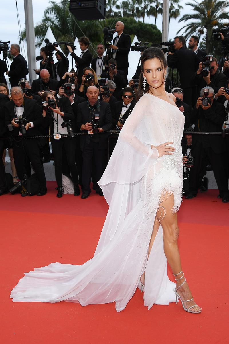 Alessandra Ambrosio 72nd Cannes Film Festival Red Carpet The Dead Don't Die White Dress