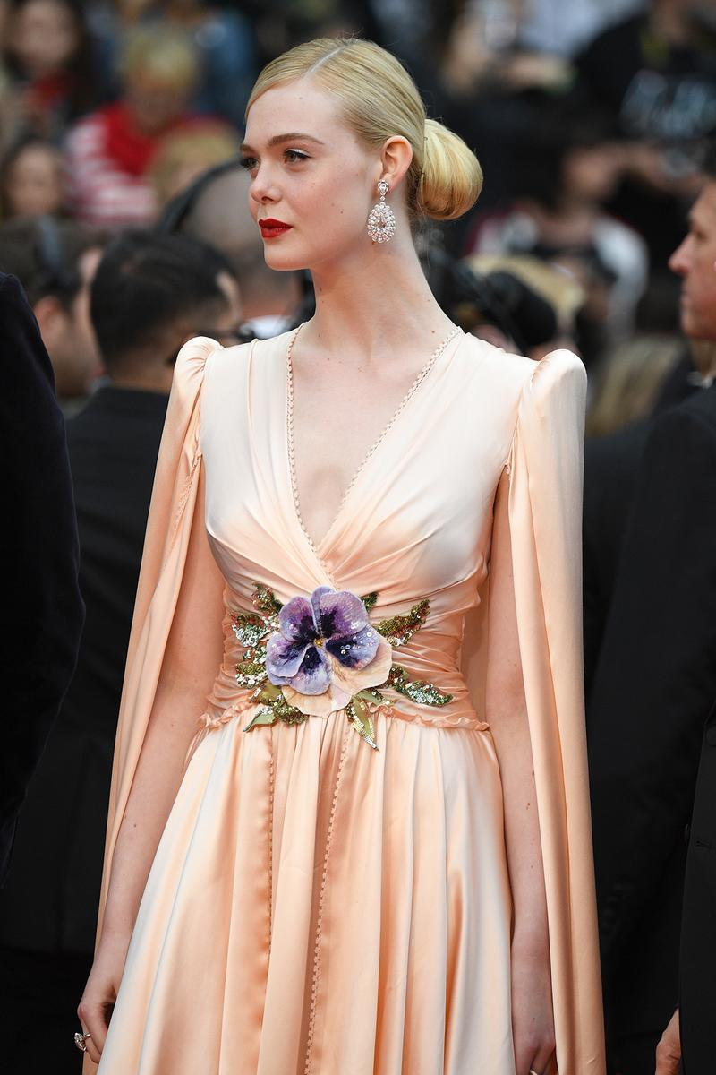 Elle Fanning Gucci Cape Gown Cannes Film Festival 72nd 2019 Red Carpet Juror