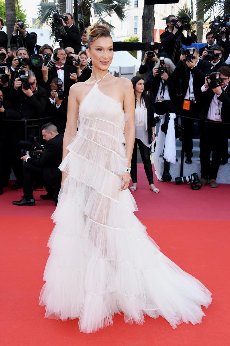 Bella Hadid 72nd Cannes Film Festival Rocket Man Red Carpet Dior White Dress Gown