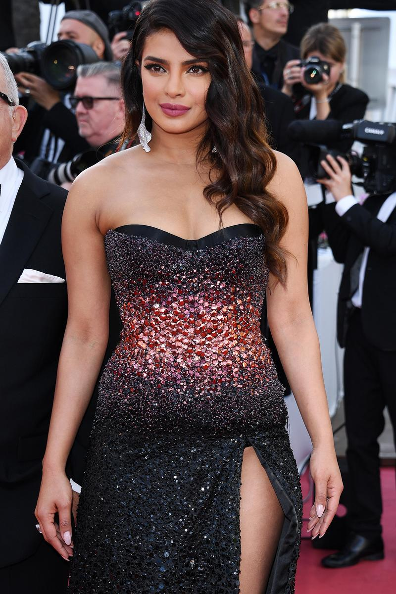 Priyanka Chopra 72nd Cannes Film Festival Rocket Man Red Carpet Black Gown Dress