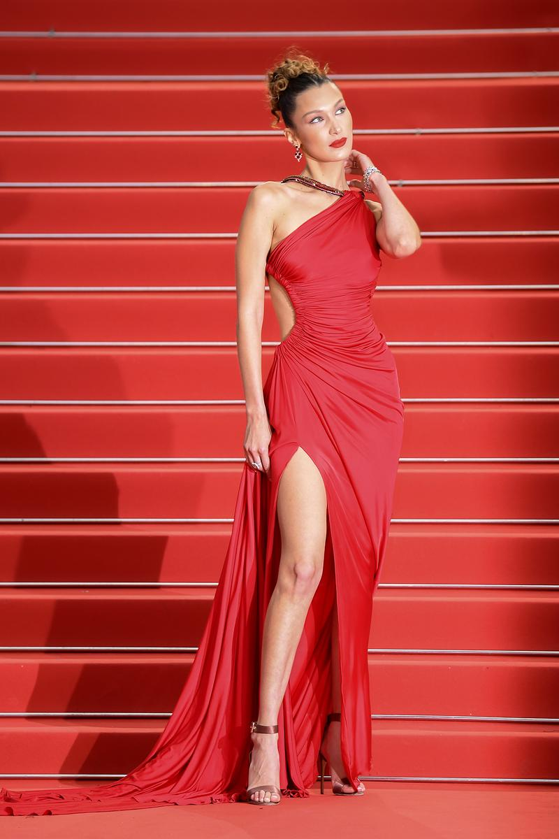 Bella Hadid 72nd Cannes Film Festival Pain and Glory Red Carpet Dress Gown