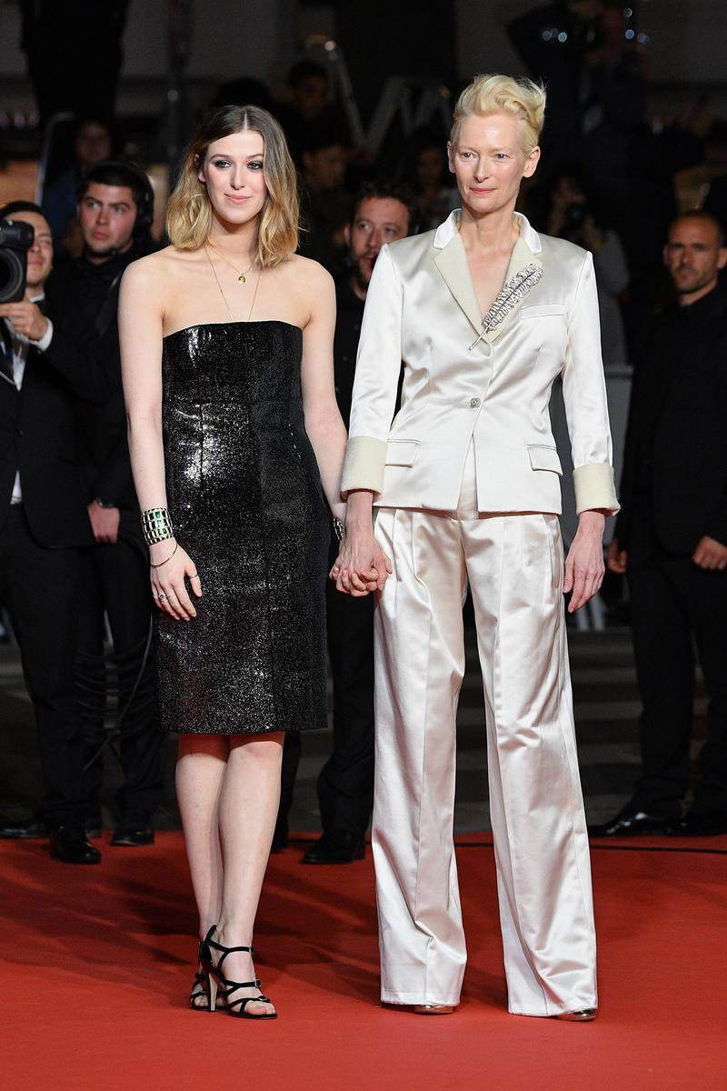 Tilda Swinton Daughter Honor Byrne Parasite Red Carpet 72nd Annual Cannes Film Festival