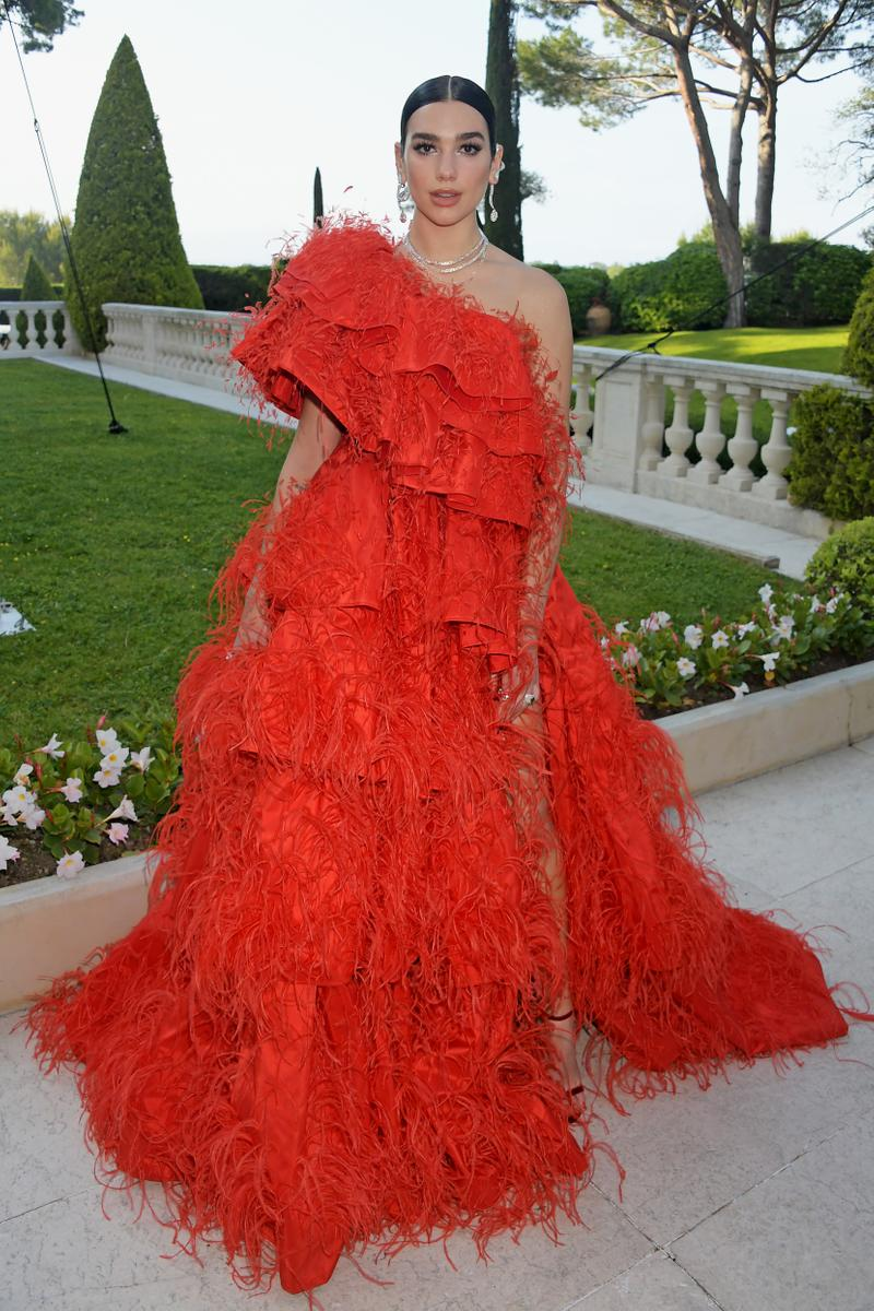 Dua Lipa amfAR Cannes Gala 2019 Red Dress