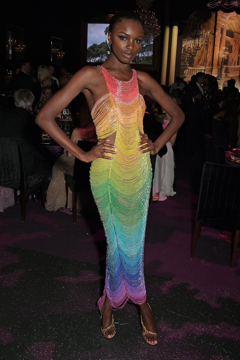 Leomie Anderson amfAR Cannes Gala 2019 Rainbow Dress