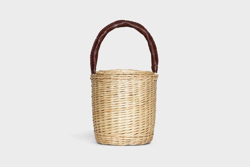 Celine Hedi Slimane Summer 2019 Basket Collection Bucket Bag Tan Brown