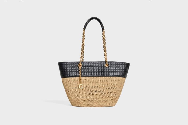 Celine Hedi Slimane Summer 2019 Basket Collection Chain Bag Tan Black