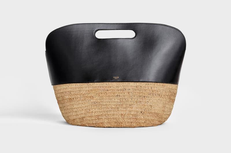 Celine Hedi Slimane Summer 2019 Basket Collection Clutch Tan Black