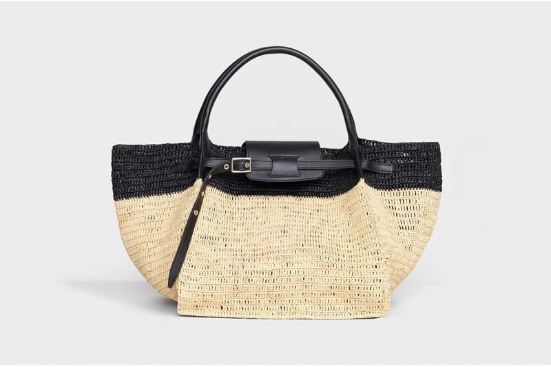 Celine Hedi Slimane Summer 2019 Basket Collection Medium Quilted Bag Tan Black