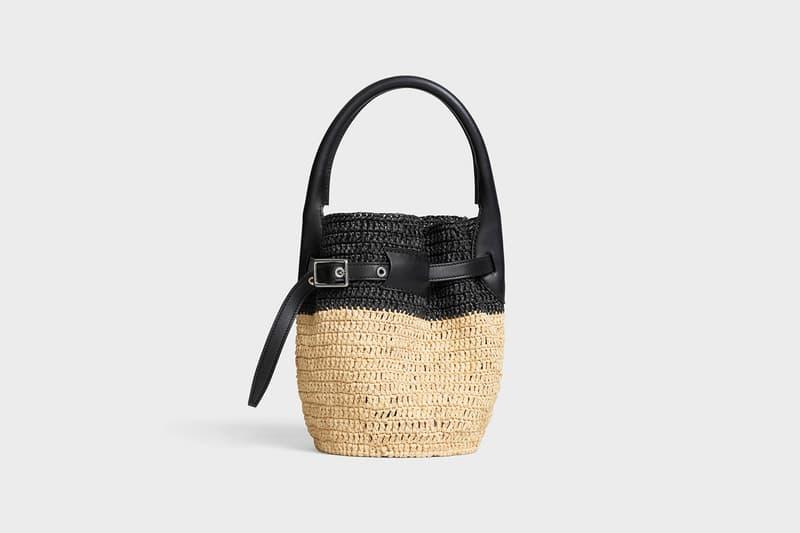 Celine Hedi Slimane Summer 2019 Basket Collection Bucket Bag Black Tan