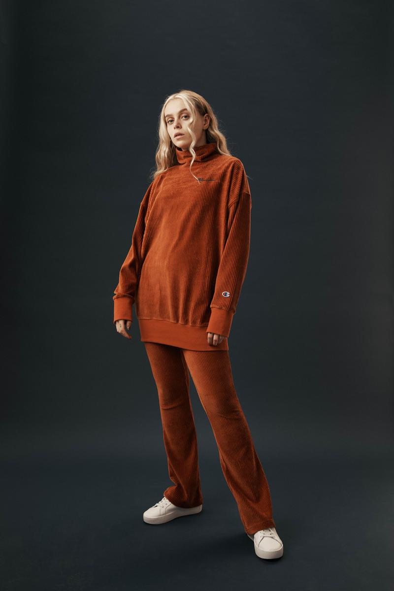 Champion Reverse Weave Fall Winter 2019 Collection Knit Sweater Pants Orange