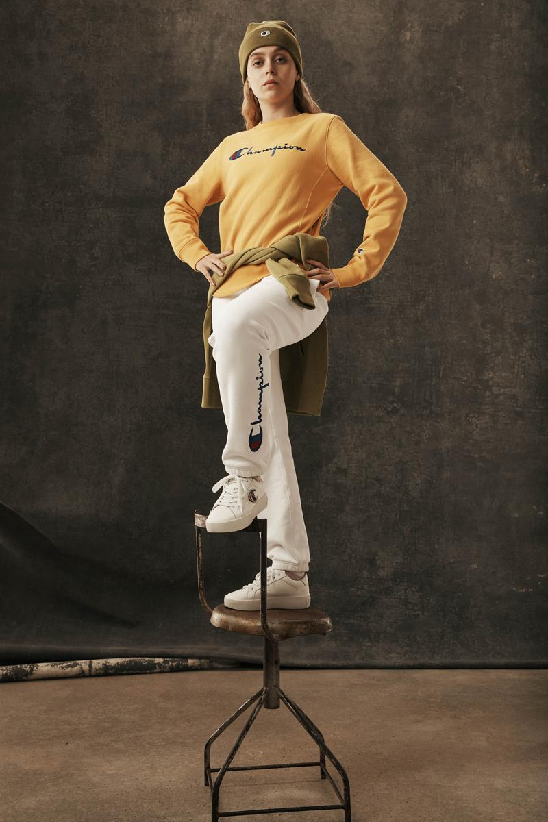 Champion Reverse Weave Fall Winter 2019 Collection Shirt Yellow Pants White