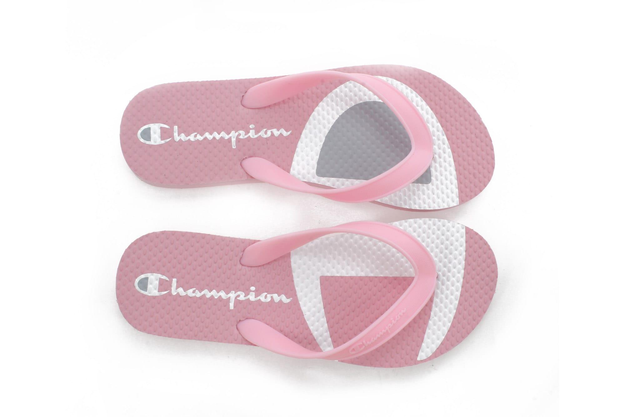 champion flip flops pink