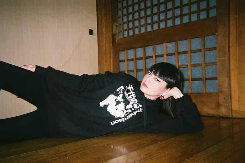 Chiyonofuji Mitsugu x Richardson Capsule Collection Kozue Akimoto Hoodie Black White