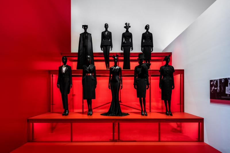 Christian Dior From Paris to the World Exhibit Dresses Suits Black