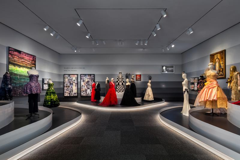 Christian Dior From Paris to the World Exhibit Dresses Gold Red Black