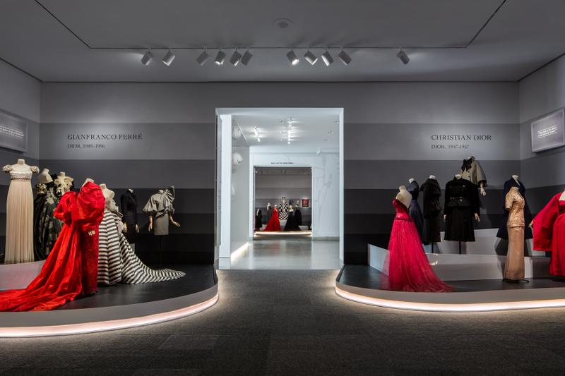 Christian Dior From Paris to the World Exhibit Dresses Red Black Cream