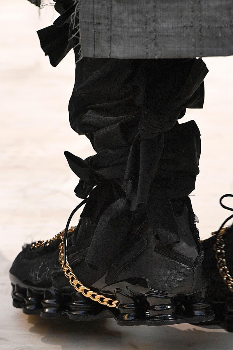 COMME des GARÇONS x Nike Shox Release Date Triple White Triple Black Sneaker Shoe Spring Summer 2019 Drop Dover Street Market Ginza Japan