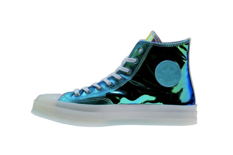 Converse Chuck 70 Metallic Iridescent Shine Release Shiny sneaker shoe chuck taylor silhouette trend