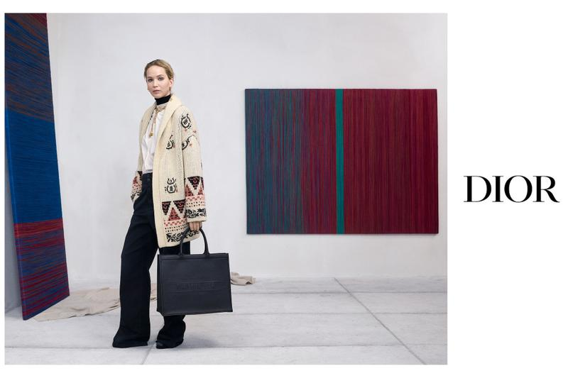 Jennifer Lawrence Dior Fall 2019 Campaign Maria Grazia Chiuri Saddle Bag Monogram Book Tote Collection Fashion