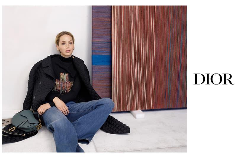 Jennifer Lawrence Dior Fall 2019 Campaign Maria Grazia Chiuri Saddle Bag Monogram Book Tote Collection Fashion