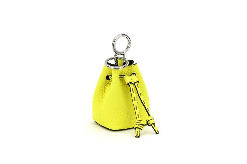 Fendi Roma Amour Capsule Collection Mini Keychain Yellow