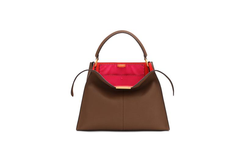 Fendi Roma Amour Capsule Collection Top Handle Bag Brown