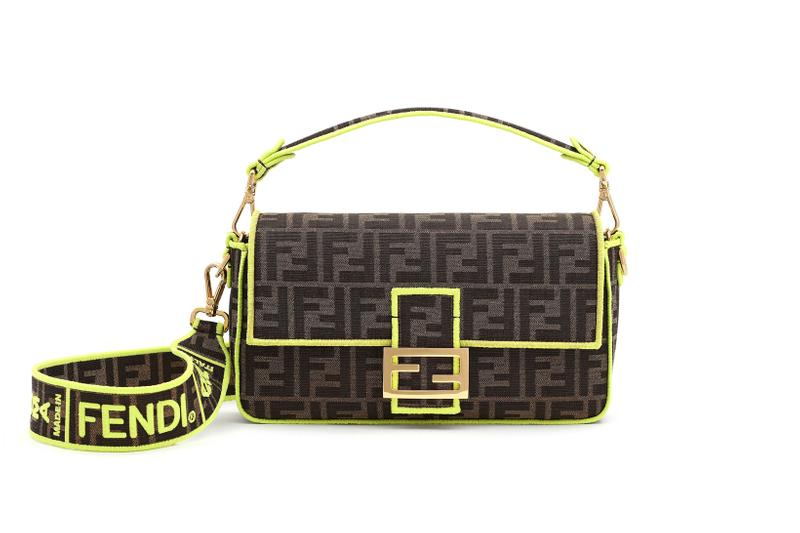 Fendi Roma Amour Capsule Collection Baguette Brown Green