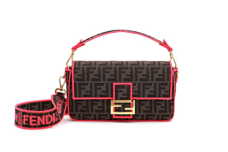 Fendi Roma Amour Capsule Collection Baguette Brown Pink