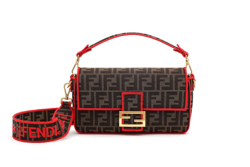 Fendi Roma Amour Capsule Collection Baguette Brown Red
