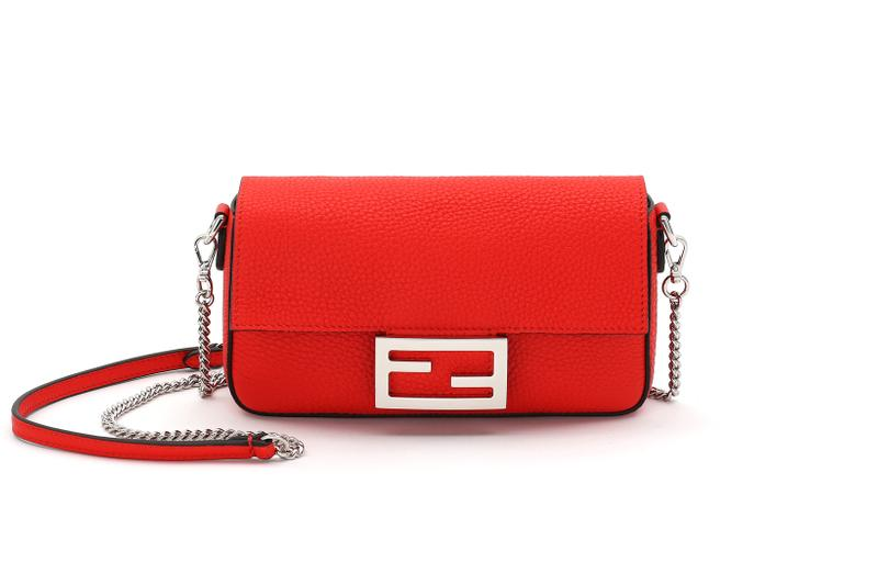 Fendi Roma Amour Capsule Collection Chain Baguette Red