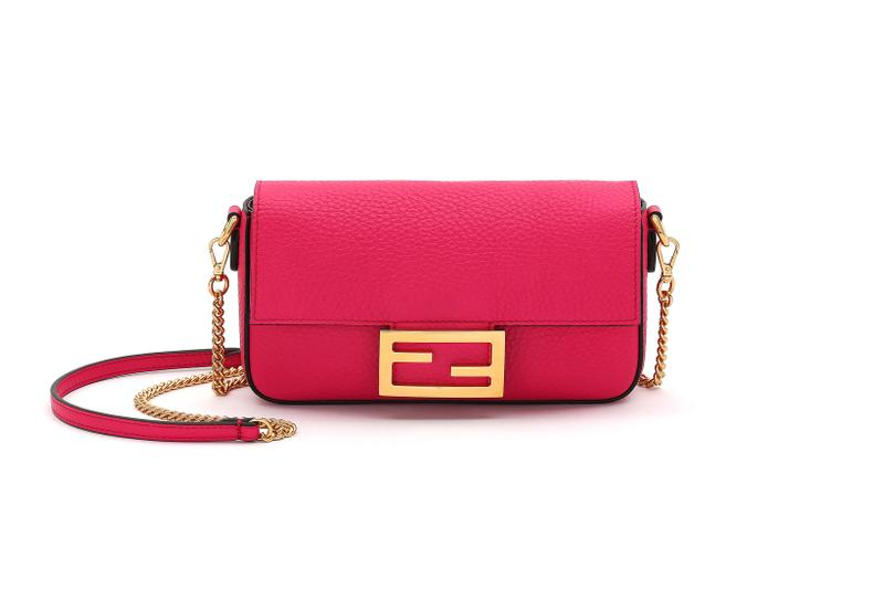 Fendi Roma Amour Capsule Collection Chain Baguette Pink